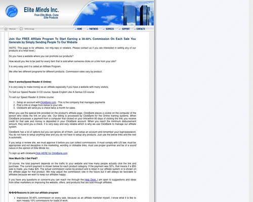 Elite Minds Inc - Affiliate Opportunities