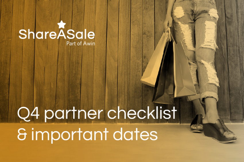 Prepare for Q4 with ShareASale's partner checklists and important dates
