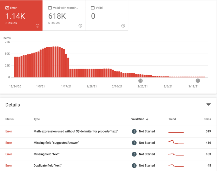 Google adds practice problems and math solver structured data and Search Console reports