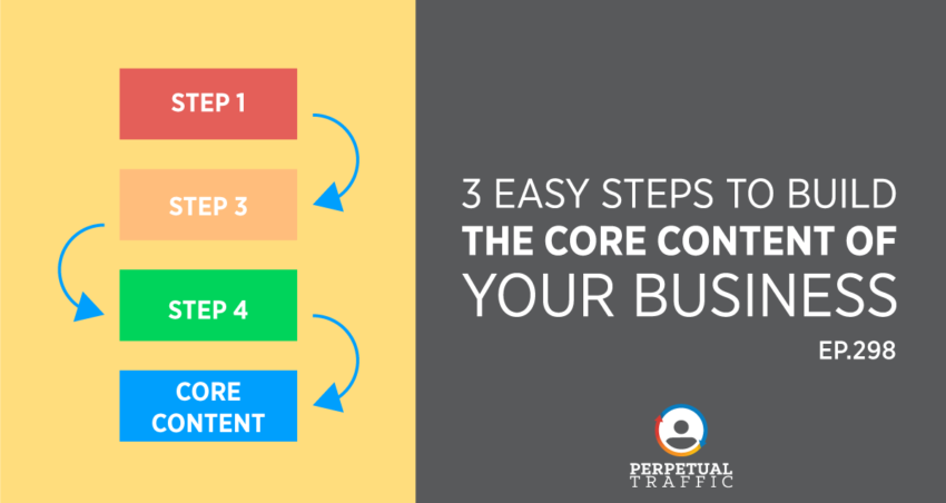 Perpetual Traffic | Episode 298: 3 Easy Steps to Build The Core Content of Your Business