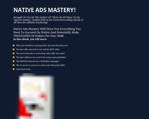 Native Ads Mastery - For Affiliate Marketers!